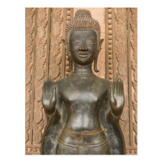Asia, Laos, Vientiane, Bronze Buddha at Hawn Postcard