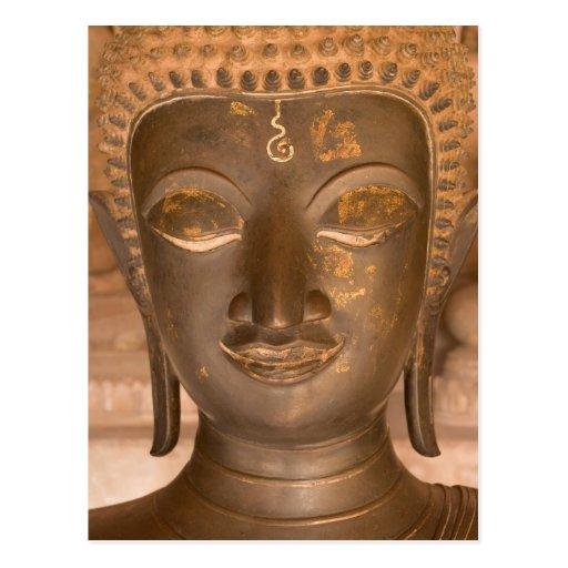 Asia, Laos, Vientiane, Bronze sculpture at Wat Postcard