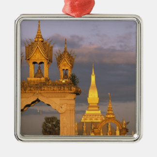 Asia, Laos, Vientiane. That Luang Temple. Metal Ornament