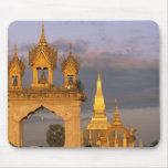 Asia, Laos, Vientiane. That Luang Temple. Mouse Pad