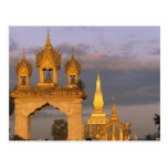 Asia, Laos, Vientiane. That Luang Temple. Post Cards