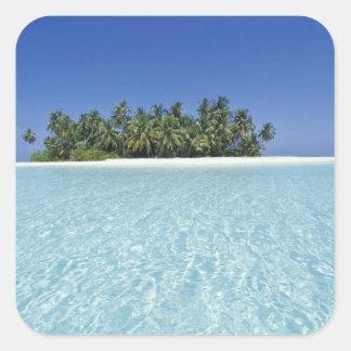 ASIA, Maldivas, atolón de Ari, deshabitado Pegatina Cuadrada
