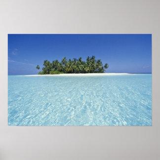 ASIA, Maldivas, atolón de Ari, deshabitado Póster