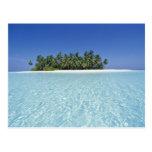 ASIA, Maldivas, atolón de Ari, deshabitado Tarjeta Postal