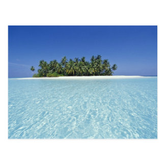 ASIA Maldivas atolón de Ari deshabitado Tarjeta Postal