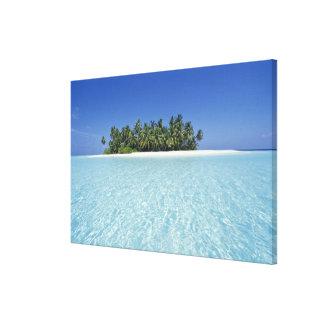 ASIA, Maldives, Ari Atoll, Uninhabited Canvas Print