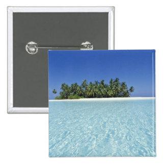 ASIA, Maldives, Ari Atoll, Uninhabited Pinback Button