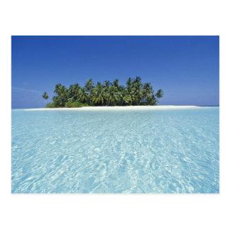 ASIA, Maldives, Ari Atoll, Uninhabited Postcard
