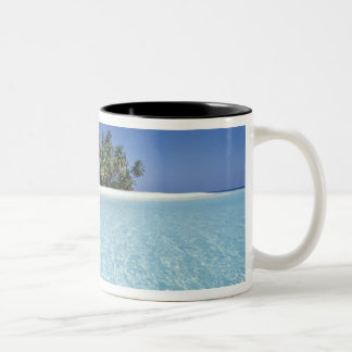 ASIA, Maldives, Ari Atoll, Uninhabited Two-Tone Coffee Mug