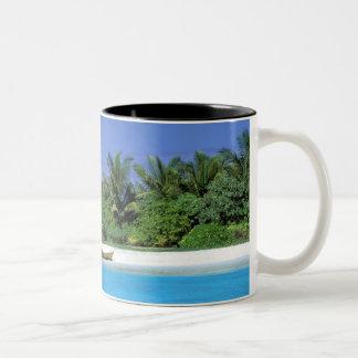 Asia, Maldives. North Male Atoll Two-Tone Coffee Mug