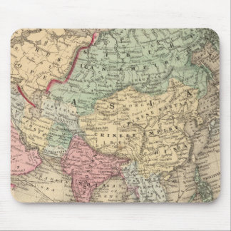 Asia Map by Mitchell Mouse Pad