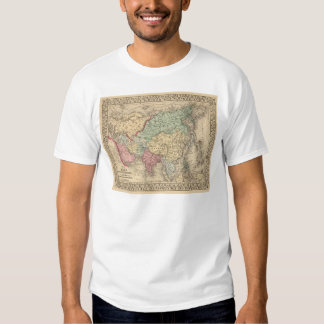 Asia Map by Mitchell T-shirt