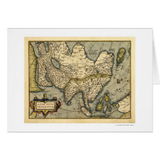 Asia Map By Ortelius 1570 Greeting Card