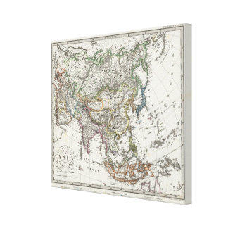 Asia Map by Stieler Canvas Print