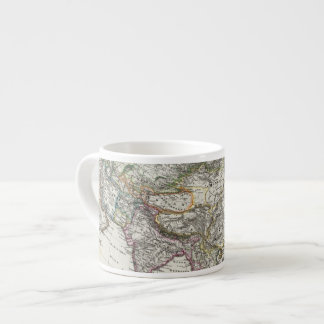 Asia Map by Stieler Espresso Cup
