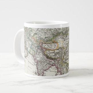 Asia Map by Stieler Giant Coffee Mug