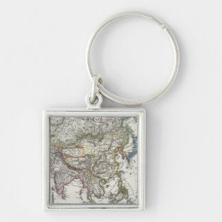Asia Map by Stieler Keychain