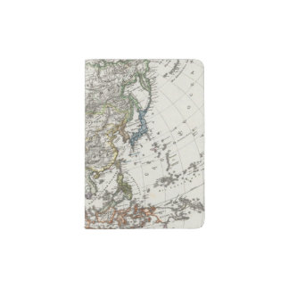 Asia Map by Stieler Passport Holder