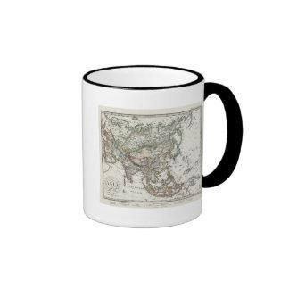 Asia Map by Stieler Ringer Mug