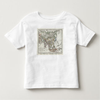 Asia Map by Stieler Toddler T-shirt