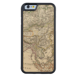 Asia Map by Stieler Carved® Maple iPhone 6 Bumper