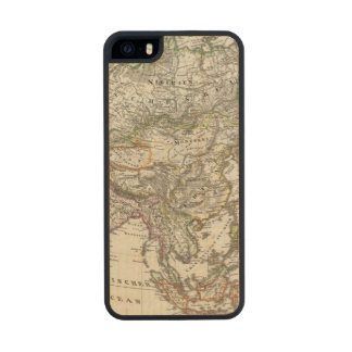Asia Map by Stieler Carved® Maple iPhone 5 Case