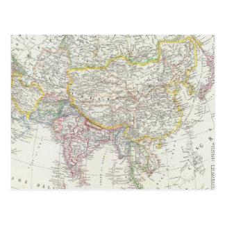 Asia Map Postcard