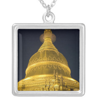 Asia, Mayanmar, Yangon, Buddhist temple in Silver Plated Necklace