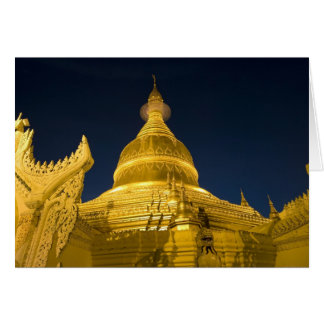 Asia, Maynmar, Yangon, Buddhist temple in Yangon Card