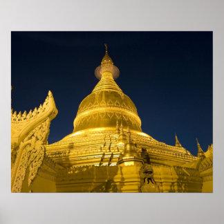 Asia, Maynmar, Yangon, Buddhist temple in Yangon Poster
