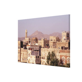Asia, Middle East, Republic of Yemen, Sana'a. Canvas Print