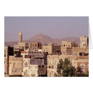Asia, Middle East, Republic of Yemen, Sana'a. Card