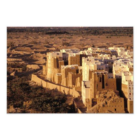 Asia, Middle East, Republic of Yemen, Shibam Photo Print
