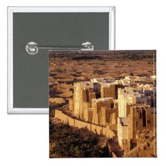 Asia, Middle East, Republic of Yemen, Shibam Pinback Button