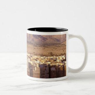 Asia, Middle East, Republic of Yemen. Shibam Two-Tone Coffee Mug