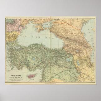 Asia Minor, Caucasus, Black Sea Poster
