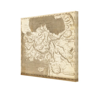 Asia Minor Map by Arrowsmith Canvas Print