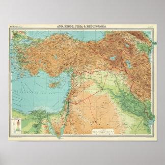 Asia Minor, Syria & Mesopotamia Print