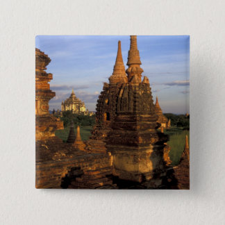 Asia, Myanmar, Bagan. Ancient temples and Button