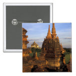 Asia, Myanmar, Bagan. Ancient temples and Pinback Buttons