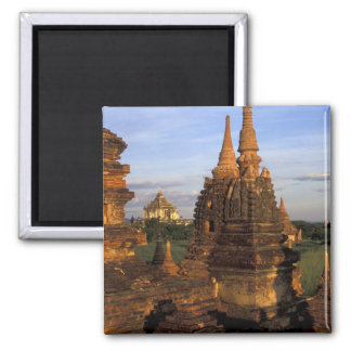 Asia, Myanmar, Bagan. Ancient temples and Refrigerator Magnet