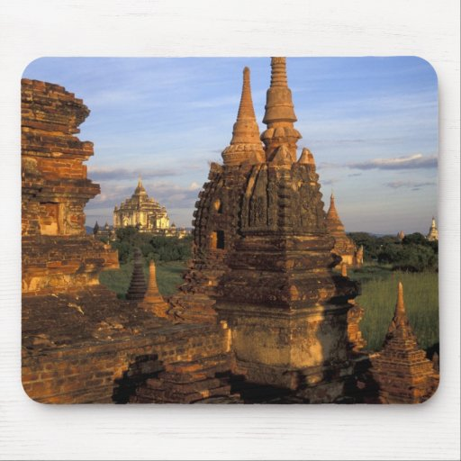 Asia, Myanmar, Bagan. Ancient temples and Mouse Pad