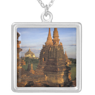 Asia, Myanmar, Bagan. Ancient temples and Square Pendant Necklace