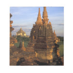 Asia, Myanmar, Bagan. Ancient temples and Notepads