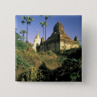 Asia, Myanmar, Bagan. Kubyauk-Gyi Temple. Pinback Button
