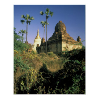 Asia, Myanmar, Bagan. Kubyauk-Gyi Temple. Poster