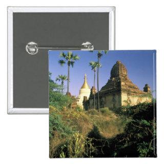 Asia, Myanmar, Bagan. Templo de Kubyauk-Gyi Pin Cuadrada 5 Cm