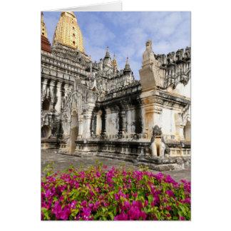 Asia, Myanmar (Birmania), Bagan (Pagan). El Ananda Tarjeta De Felicitación