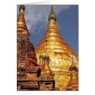 Asia, Myanmar (Birmania), Bagan (Pagan). El Dhamma Tarjeta De Felicitación
