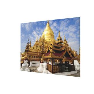 Asia, Myanmar (Birmania), Bagan (Pagan). El Shwe 2 Impresion De Lienzo